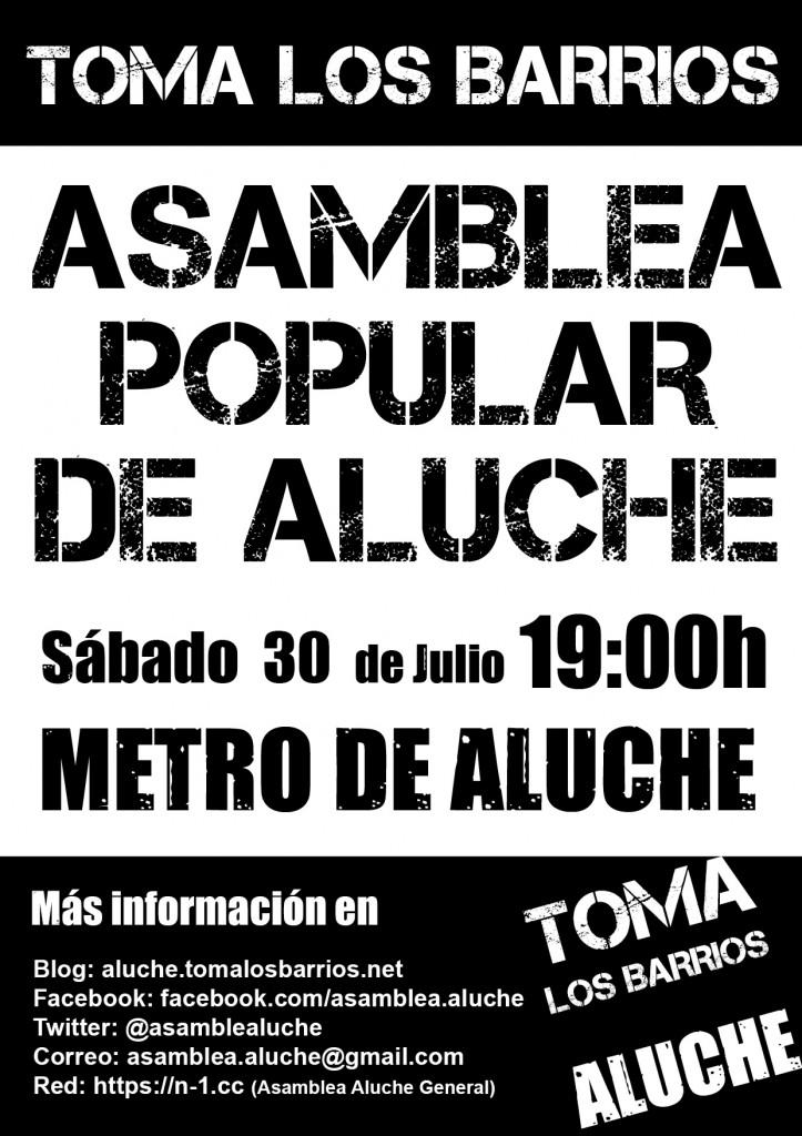 Cartel Asamblea de Aluche 30 Jul