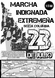 Cartel Marchas 23 Julio - Marcha Extremeña